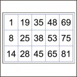 bingo cards up to 90 numbers