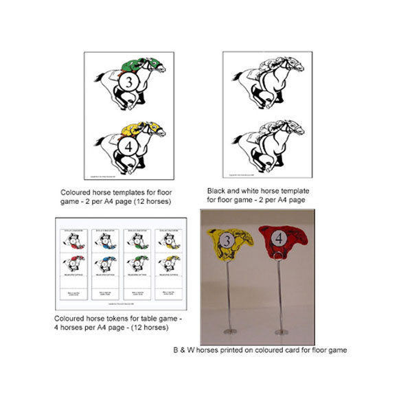 Horse racing game printable box n dice table top and floor horseracing game pronofoot35fo Choice Image