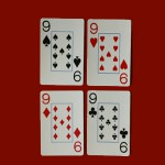 standard sized playing cards with jumbo index numbers