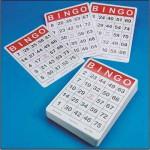 Large Print Bingo Cards laminated