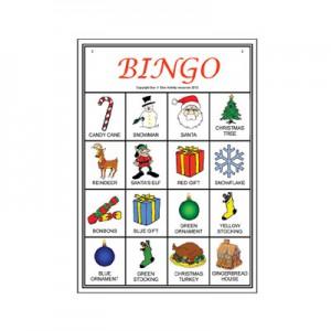 Christmas Picture Bingo player card sample
