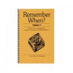 Remember When Volume 2 quiz book