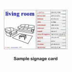 Signage cards sample for a room