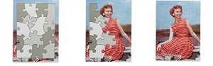 Lady in Red puzzle - how it works