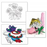 Adult Colouring Designs -Small Set 1