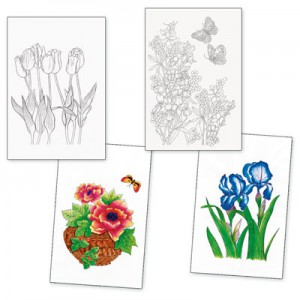 Adult Colouring Designs - Set 6