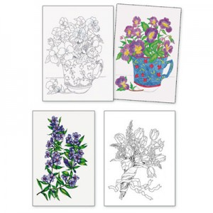 Adult Colouring Designs - Set 7