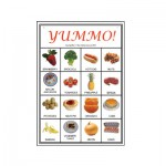"""Yummo"" Picture Bingo players card sample"
