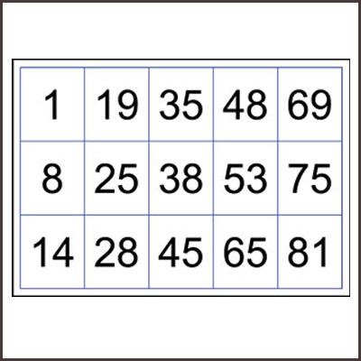 picture relating to Free Printable Bingo Cards With Numbers titled Bingo Playing cards Numbered in the direction of 90 Printable