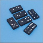 Jumbo double six dominoes
