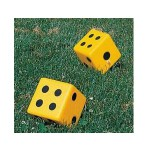 15 cm coated foam dice