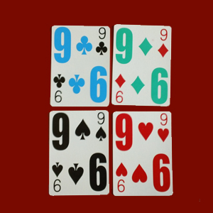 low vision easy see cards with giant numbers and four colours
