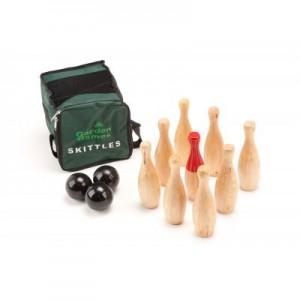 Wood Skittles Game