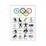 Example of an Olympic Games Picture Bingo player card