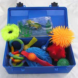 Fiddle and Feel box of sensory objects