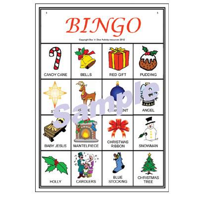 Christmas Picture Bingo Sample Card
