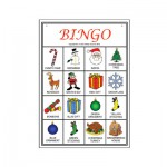 Christmas Picture Bingo player card sample