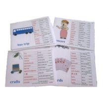Recreational Activities language cards