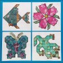 Four pictures from Mineral Mosaics Artwork Set