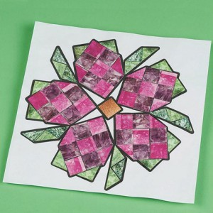 Mineral mosaics flower project