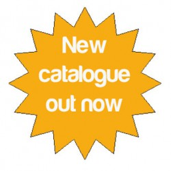 New catalogue out now sign