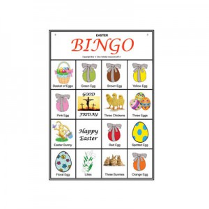 Sample of an Easter Picture Bingo Card