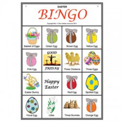 Sample Easter Picture Bingo game card