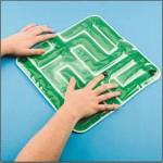 Green sensory gel maze