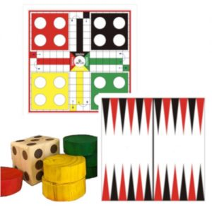 Giant Ludo and Backgammon 2 in 1 board game