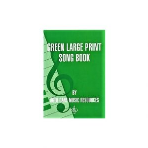 Green Large Print Songbook
