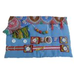 Slip Resistant Fiddle Mat - pale blue with abstract print