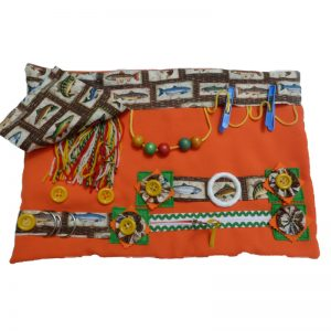 Slip-resistant Fiddle Mat with Fish Print