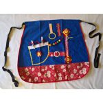 Fiddle Apron - Half with daisy print