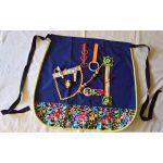 Fiddle Apron - Half with multi-coloured floral print