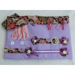 Activity mat - lilac with Japanese themed print