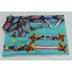 Fiddle mat - mint green with cars print