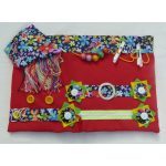 Fiddle mat - red with floral print