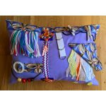 Rectangle Cushion lilac with abstract print