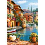 Jigsaw Puzzle - Cafe at the Canal