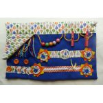 Slip Resistant Fiddle Mat - blue with hot air balloons