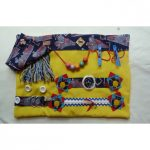 Slip Resistant Fiddle Mat - Yellow with trains print