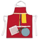 Red Activity Apron - full