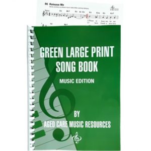 Green Large Print Song Book - Music Edition