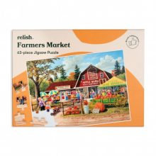Relish 63p Large Piece Jigsaw- Farmer's Market