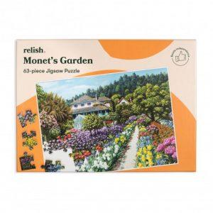 Relish 63p Large Piece Jigsaw - Monet's Garden