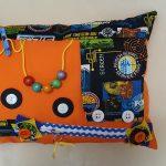 Fiddle Cushion Orange with Targets