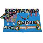 Fiddle Mat - Blue with feathers