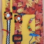 Slip Resistant Fiddle Mat - STFM2 - Mustard with autumn leaves